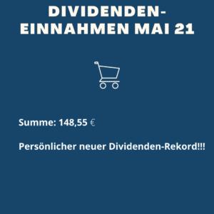 Dividenden-Einnahmen Mai 21