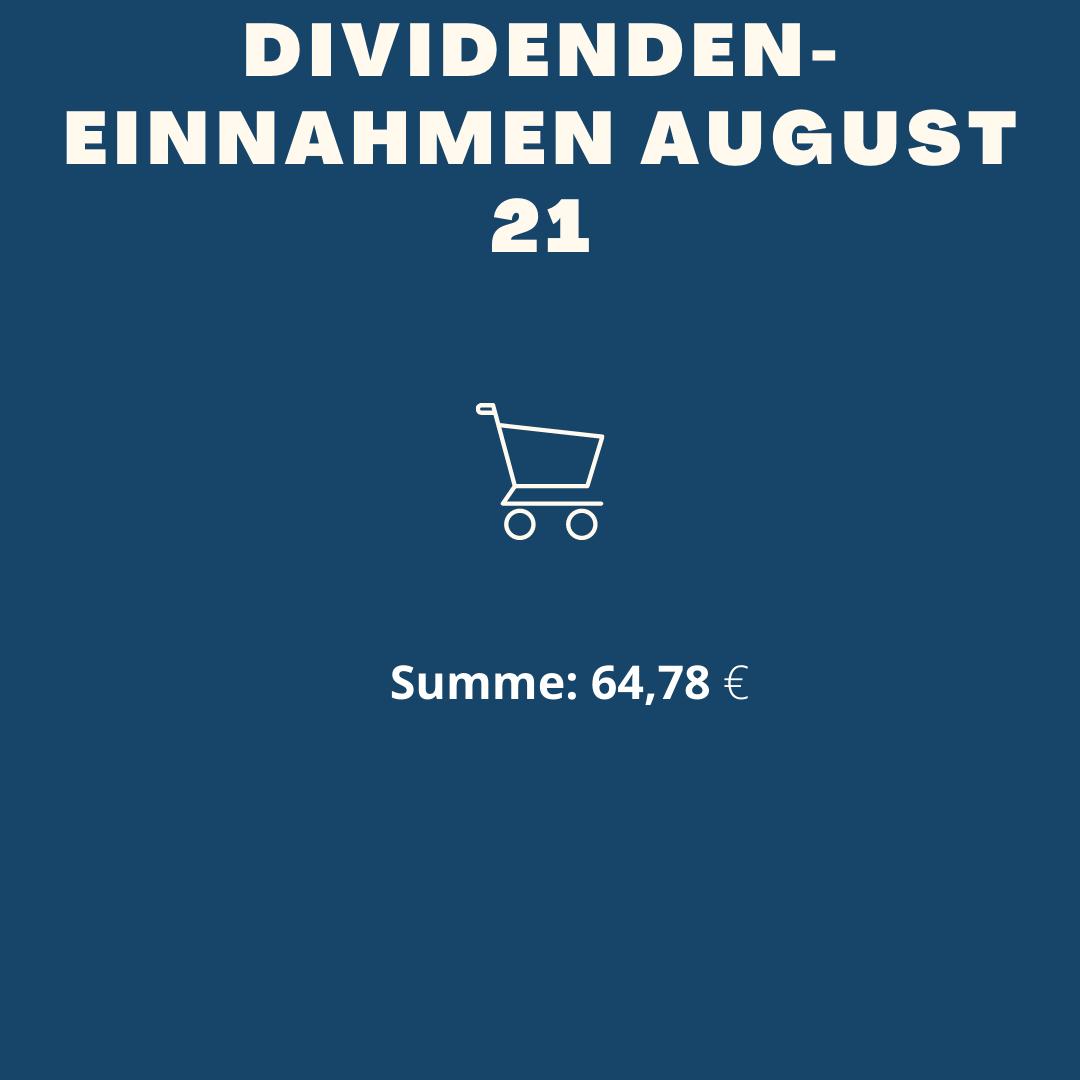 Dividenden-Einnahmen August 2021