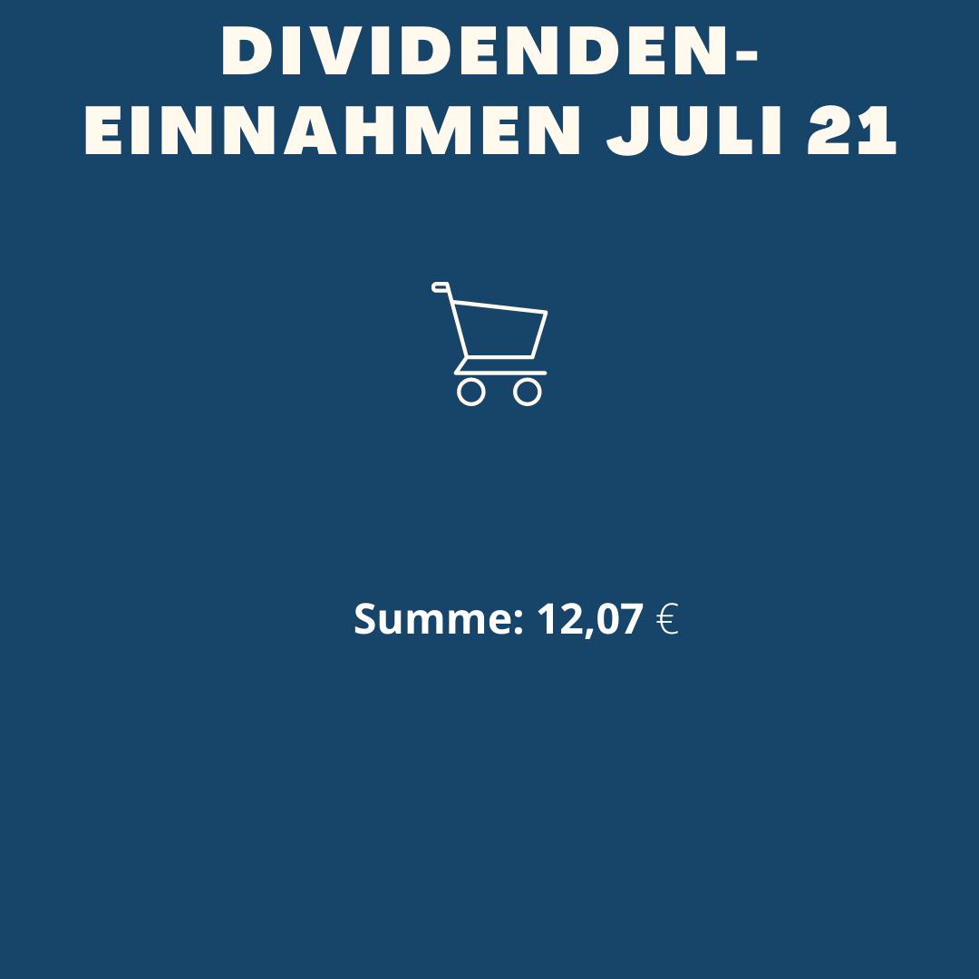 Dividenden-Einnahmen Juli 2021