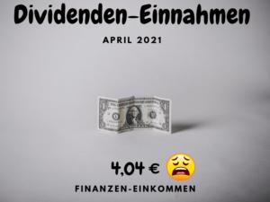 Dividenden-Einnahmen April