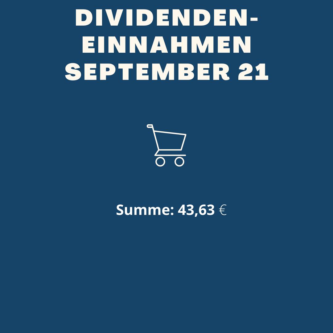 Dividendeneinnahmen September 2021