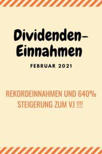 Dividendenrekord und 640% Steigerung Feb 21
